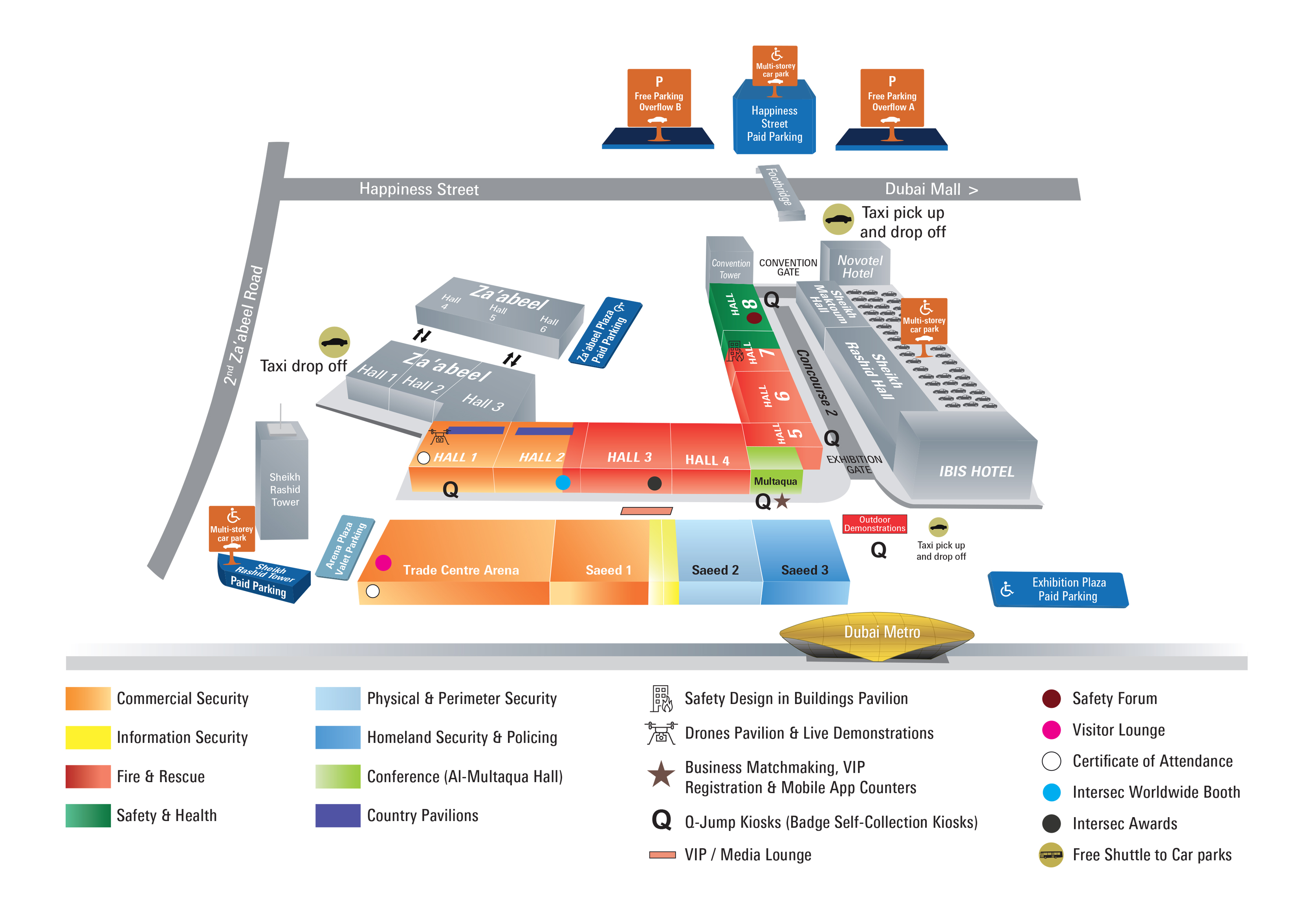 Intersec 2019 Venue Map