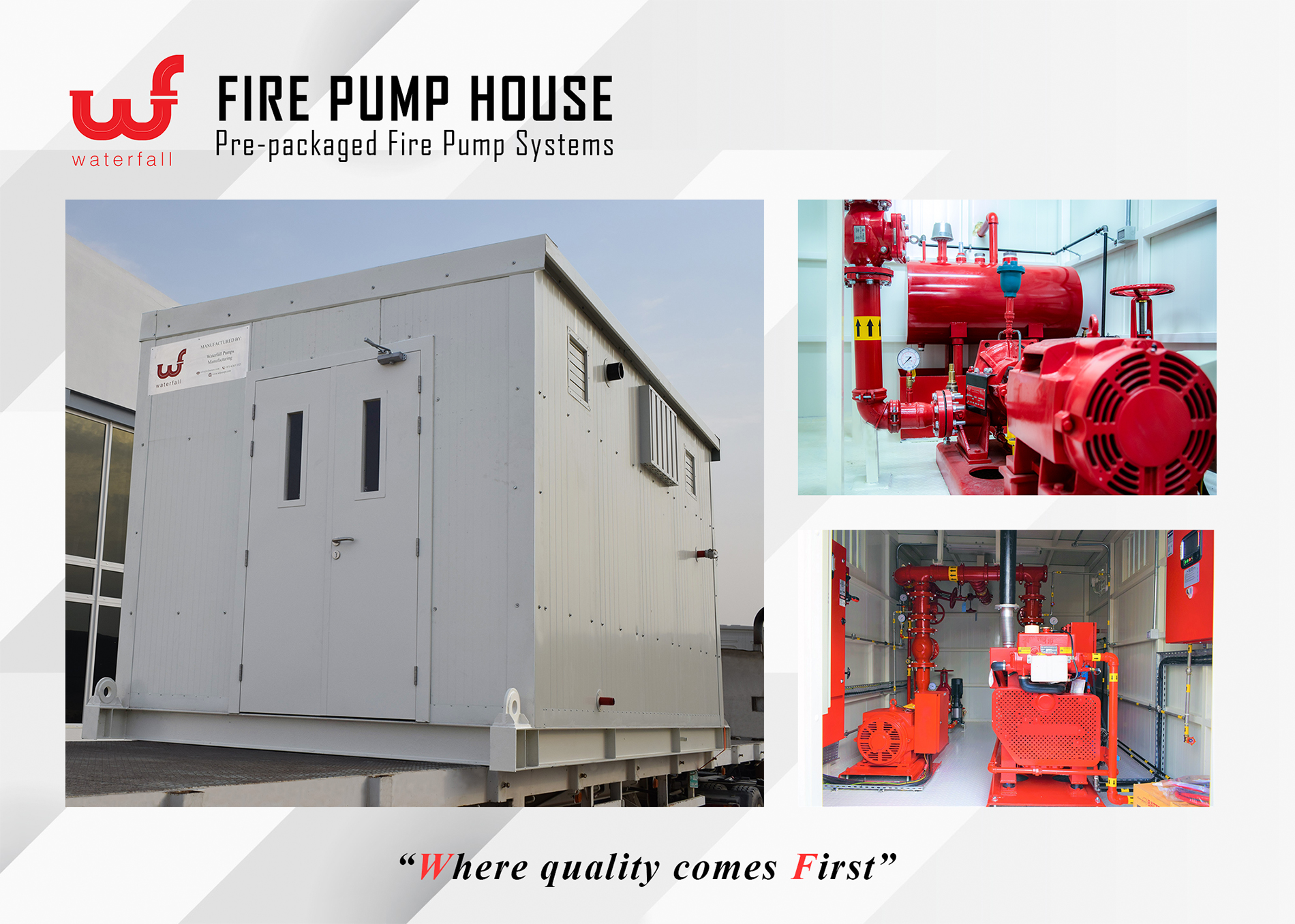 WATERFALL PUMPS MANUFACTURING, WF Fire Pump House (Pre-packaged Fire Systems)