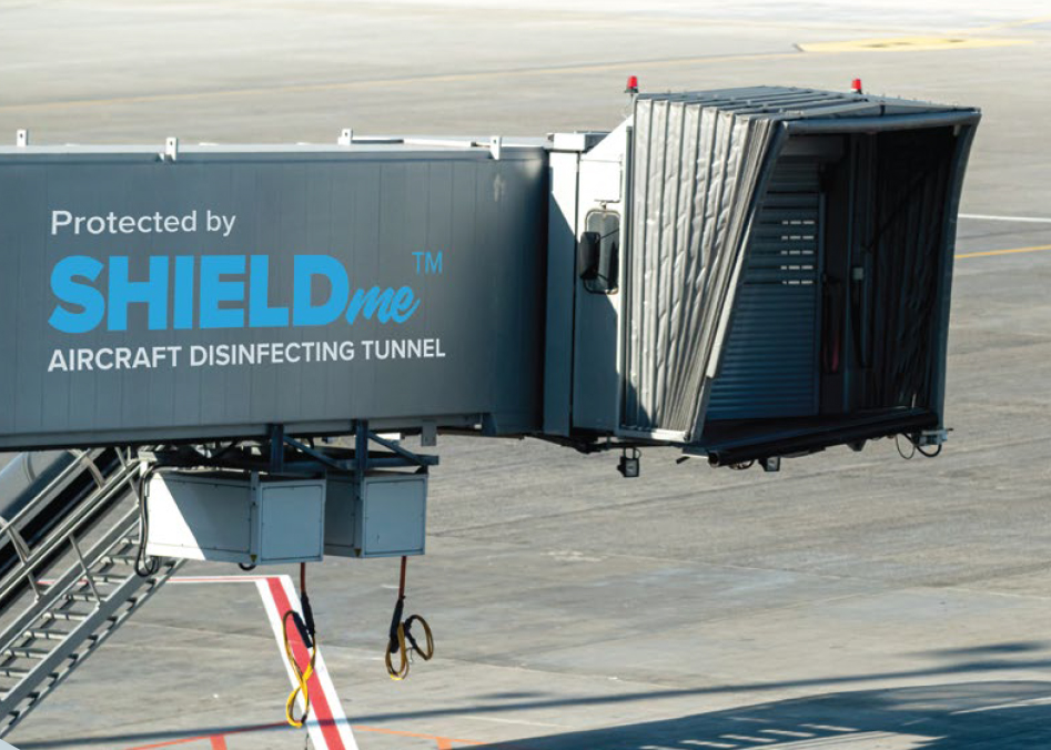 SHIELDme Sanitizing Airplane Tunnel Flyer by Naffco